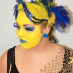yellow and blue makeup